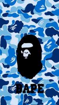 Blue bape live wallpaper