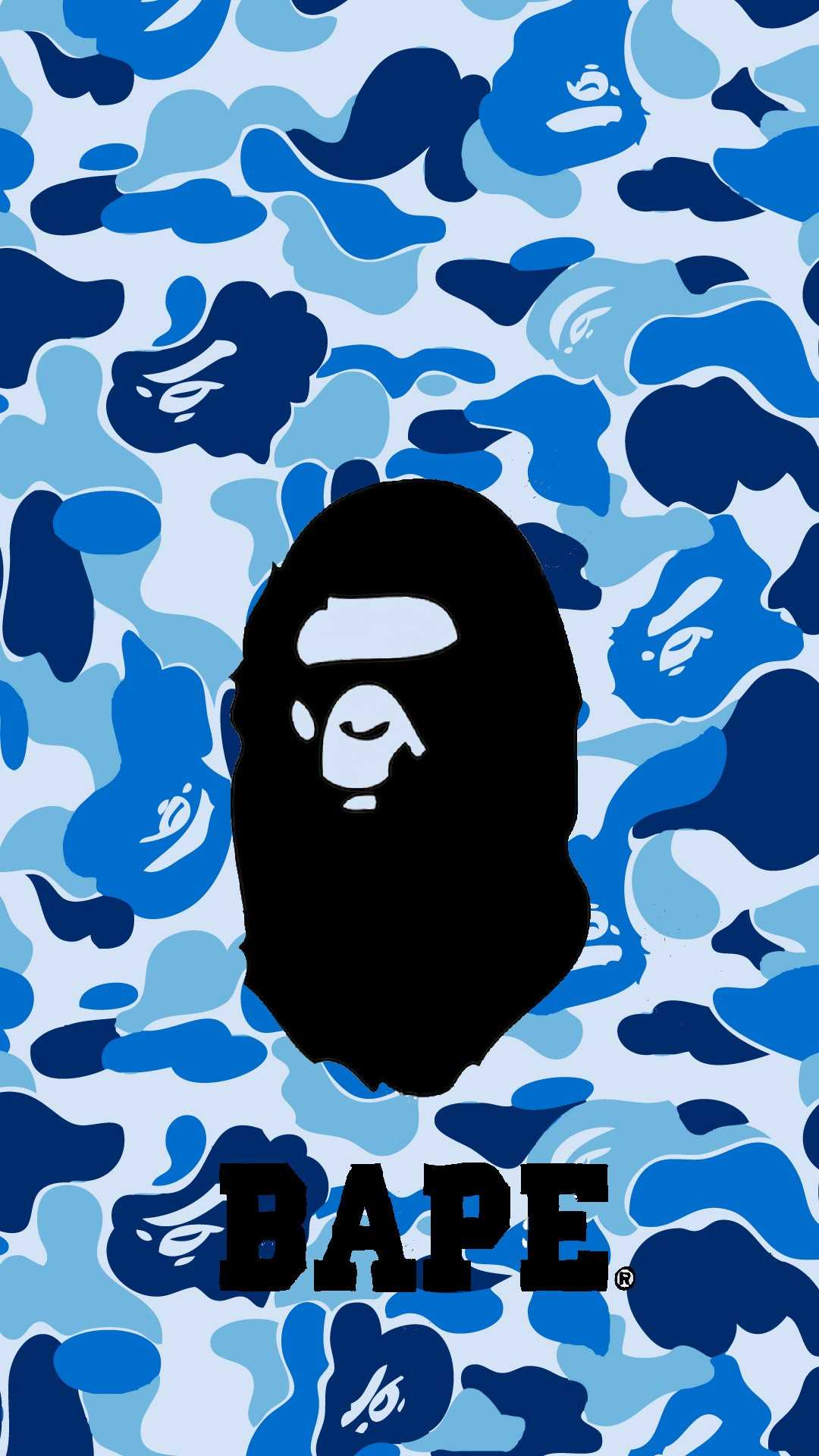 Blue bape live wallpaper