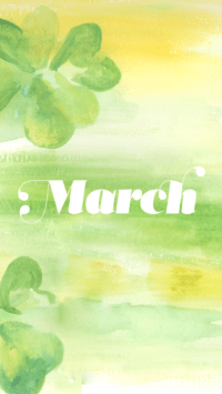 Hello March Wallpaper