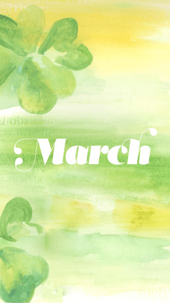 Hello March Wallpaper