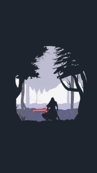 Minimalist star wars wallpaper