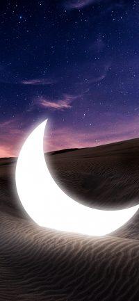Moon and stars wallpaper 33