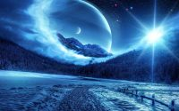 Moon and stars wallpaper 28