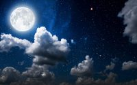 Moon and stars wallpaper 22