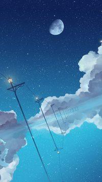 Moon and stars wallpaper 44