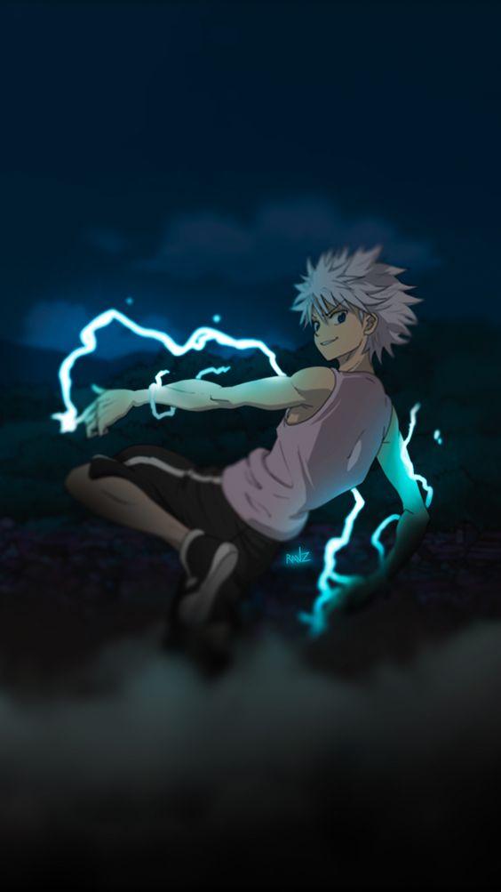 Blue Anime Aesthetic Killua Anime Wallpaper Hd