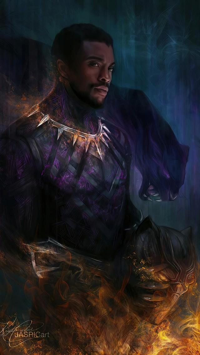 Black Panther Chadwick Boseman Wallpaper 1