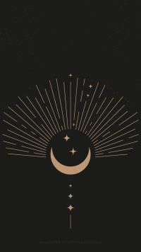 Moon and stars wallpaper 19