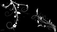 Black Flowers Wallpaper 10