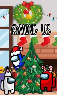 Among Us Christmas Wallpaper 12