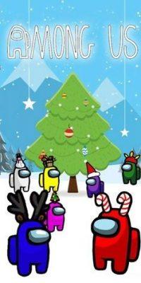 Among Us Christmas Wallpaper 9