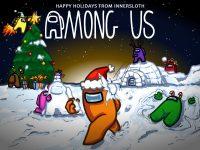 Among Us Christmas Wallpaper 7