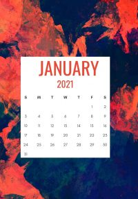 January 2021 Wallpaper 5