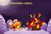 January 2021 Wallpaper 3