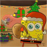 Spongebob Christmas wallpaper 33
