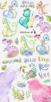 Cute Dinosaur Wallpaper 12