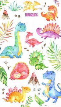 Cute Dinosaur Wallpaper 2