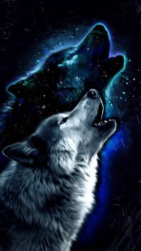 Galaxy Wolf Wallpaper 4
