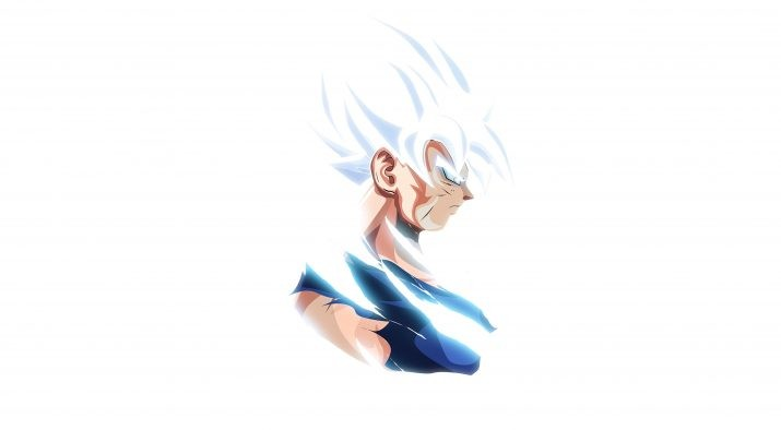 Goku Ultra Instinct White Wallpaper 1