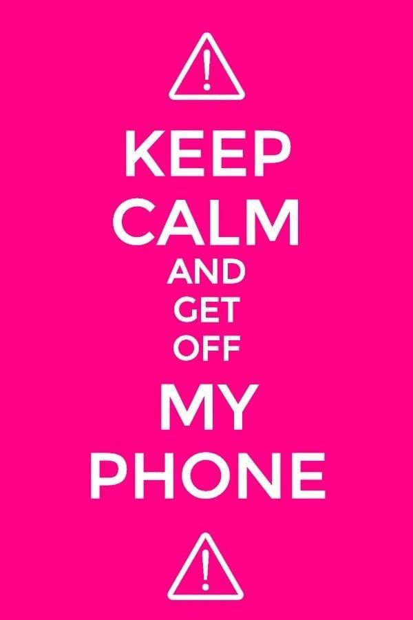 Get Off My Phone Wallpaper 1
