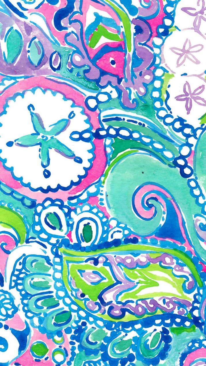 Blue Preppy Wallpaper 1