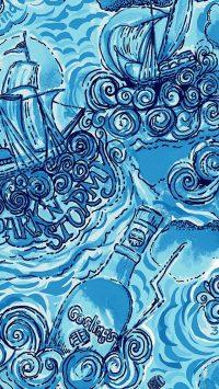 Blue Preppy Wallpaper 10